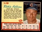 1962 Post #186  Richie Ashburn   Front Thumbnail