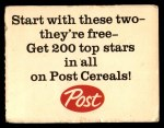 1962 Post Cereal #6 AD Roger Maris  Back Thumbnail