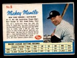 1962 Post #5 xAD Mickey Mantle   Front Thumbnail