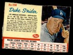 1962 Post #114  Duke Snider   Front Thumbnail