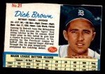 1962 Post #21  Dick Brown   Front Thumbnail