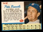 1962 Post Cereal #57  Pete Runnels   Front Thumbnail