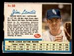 1962 Post Cereal #50  Jim Landis   Front Thumbnail