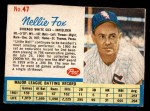 1962 Post Cereal #47  Nellie Fox   Front Thumbnail