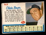 1962 Post Cereal #3  Clete Boyer   Front Thumbnail