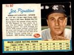 1962 Post Cereal #97  Joe Pignatano   Front Thumbnail