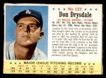 1963 Post #123  Don Drysdale  Front Thumbnail