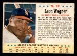 1963 Post #28 COR Leon Wagner   Front Thumbnail