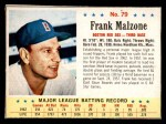 1963 Post #79  Frank Malzone  Front Thumbnail