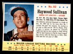 1963 Post Cereal #92  Haywood Sullivan  Front Thumbnail