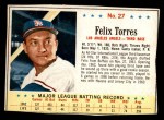 1963 Post Cereal #27  Felix Torres  Front Thumbnail