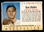 1963 Post Cereal #174  Ken Hubbs  Front Thumbnail
