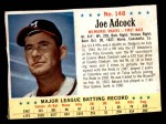 1963 Post #148  Joe Adcock  Front Thumbnail