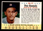 1963 Post Cereal #77  Pete Runnels  Front Thumbnail