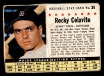 1961 Post Cereal #36 BOX Rocky Colavito   Front Thumbnail