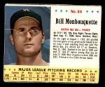 1963 Jello #84  Bill Monbouquette  Front Thumbnail