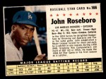 1961 Post Cereal #166 BOX John Roseboro   Front Thumbnail