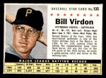1961 Post #135  Bill Virdon   Front Thumbnail