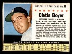 1961 Post #11  Clete Boyer   Front Thumbnail