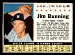 1961 Post #39 BOX Jim Bunning   Front Thumbnail