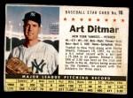 1961 Post #16  Art Ditmar   Front Thumbnail