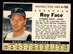 1961 Post #133  Roy Face   Front Thumbnail