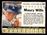 1961 Post #164 BOX Maury Wills   Front Thumbnail