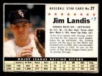 1961 Post Cereal #27 BOX Jim Landis   Front Thumbnail