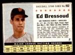 1961 Post #152 BOX Ed Bressoud   Front Thumbnail