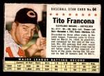 1961 Post #64 BOX Tito Francona   Front Thumbnail