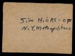 1961 Post #118 BOX Tony Taylor   Back Thumbnail