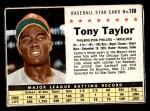 1961 Post #118 BOX Tony Taylor   Front Thumbnail