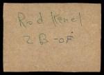 1961 Post #197 BOX Glen Hobbie   Back Thumbnail
