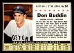 1961 Post Cereal #53 BOX Don Buddin   Front Thumbnail
