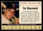 1961 Post Cereal #31 BOX Ted Kluszewski   Front Thumbnail
