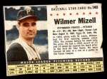 1961 Post Cereal #140 BOX Wilmer Mizell   Front Thumbnail