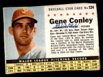 1961 Post Cereal #124 BOX Gene Conley   Front Thumbnail