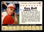 1961 Post #186 BOX Gus Bell   Front Thumbnail