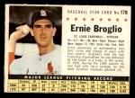 1961 Post Cereal #179 COM Ernie Broglio   Front Thumbnail