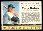 1961 Post Cereal #9 COM Tony Kubek   Front Thumbnail