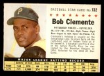 1961 Post #132 COM Roberto Clemente  Front Thumbnail