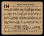 1938 Gum Inc. Horrors of War #194   Battle Among the Graves Back Thumbnail
