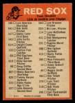 1973 O-Pee-Chee Blue Team Checklist #3   -     Red Sox Team Checklist Back Thumbnail