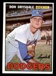 1967 Topps #55  Don Drysdale  Front Thumbnail