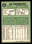 1967 Topps #163  Vic Roznovsky  Back Thumbnail