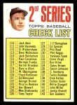 1967 Topps #103 A  -  Mickey Mantle Checklist 2 Front Thumbnail