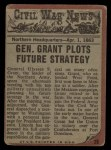 1962 Topps Civil War News #38   General Grant Back Thumbnail