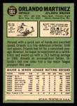 1967 Topps #504  Orlando Martinez  Back Thumbnail