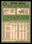 1967 Topps #508  Dick Hall  Back Thumbnail