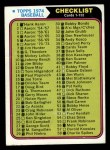 1974 Topps #126   Checklist 1 Front Thumbnail